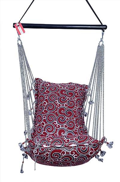 Kkriya Home Décor Jumbo Hammock N Swing in Red