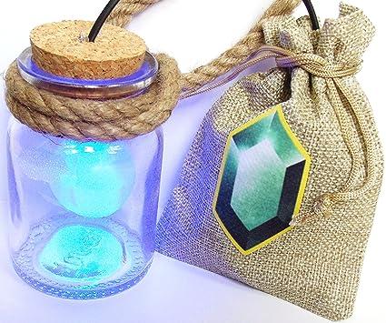 Link Cosplay al hada botella con LED azul y rojo bolsa