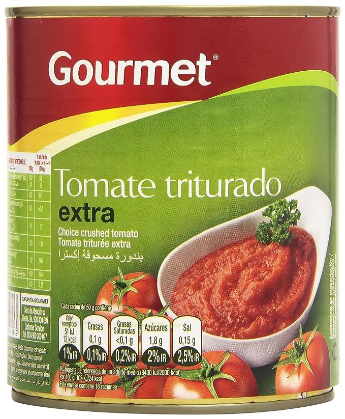 Gourmet - Tomate triturado extra - 800 g: Amazon.es: Alimentación y bebidas