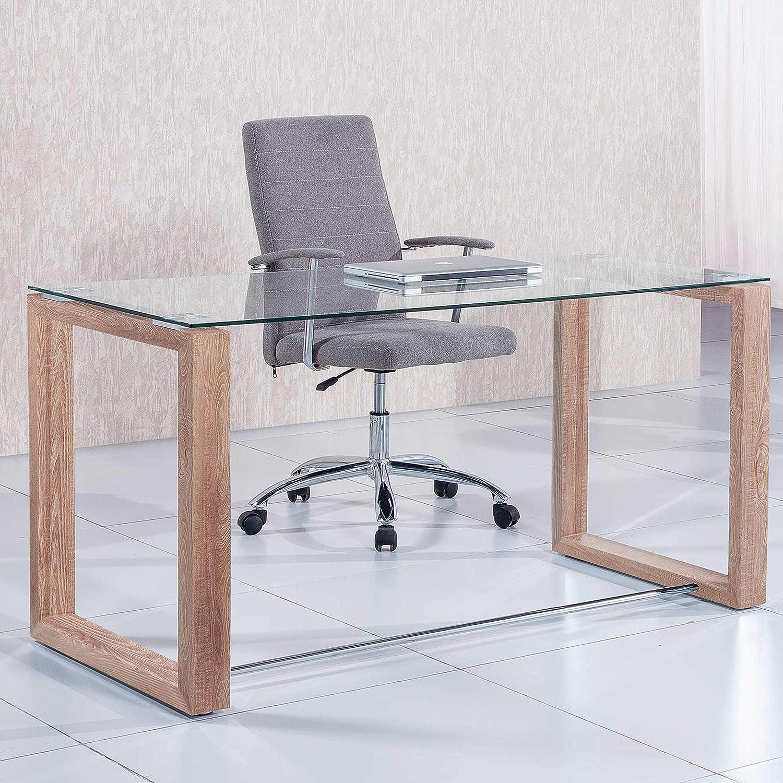 Adec - Mesa de Estudio Oficina Office, Cristal Transparente y ...