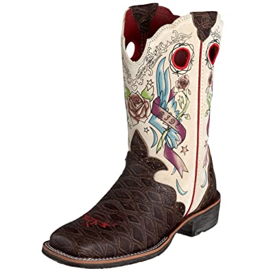 Amazon.com | Ariat Women&39s Rodeobaby Rocker Boot Distressed Brown
