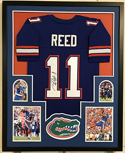ea468fd5b32 Jordan Reed Autographed Custom Framed Florida Gators Jersey JSA COA at  Amazon's Sports Collectibles Store