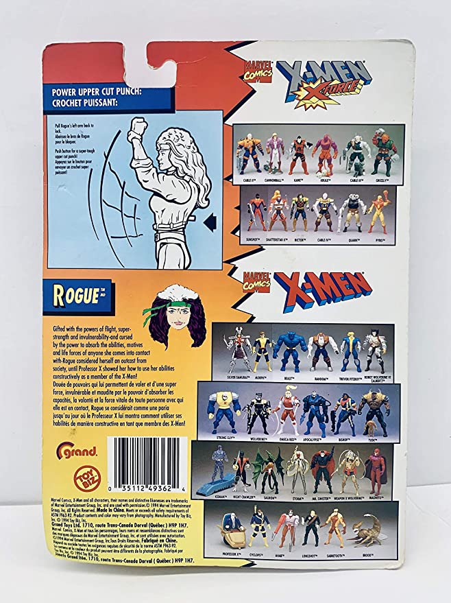 Rogue Action Figure X-Men 1994 Used