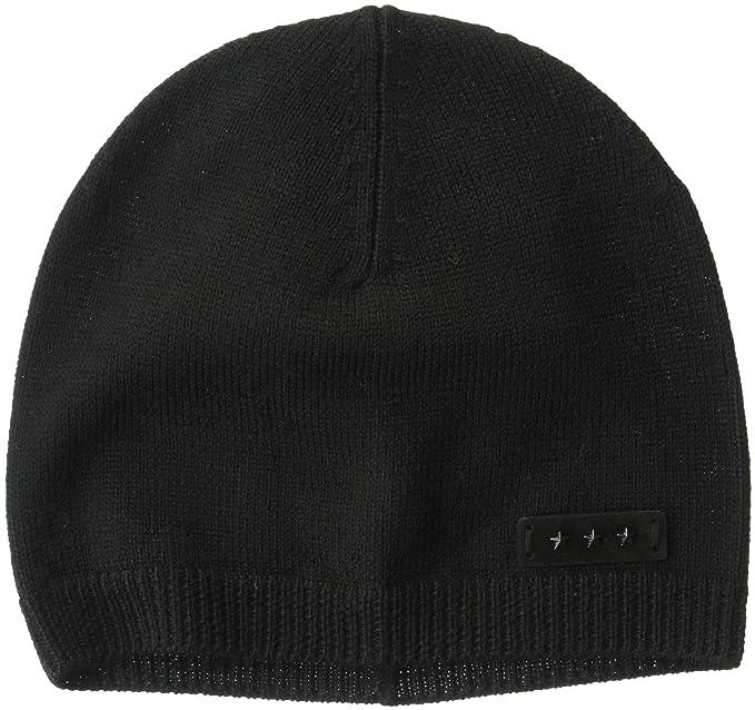 John Varvatos Star U.S.A Men s Merino Wool Jersey Skull Knit Hat ... 10d0b965124b