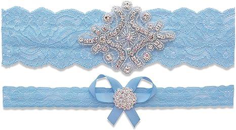 Something Blue Luxury Lace Bridal Garter