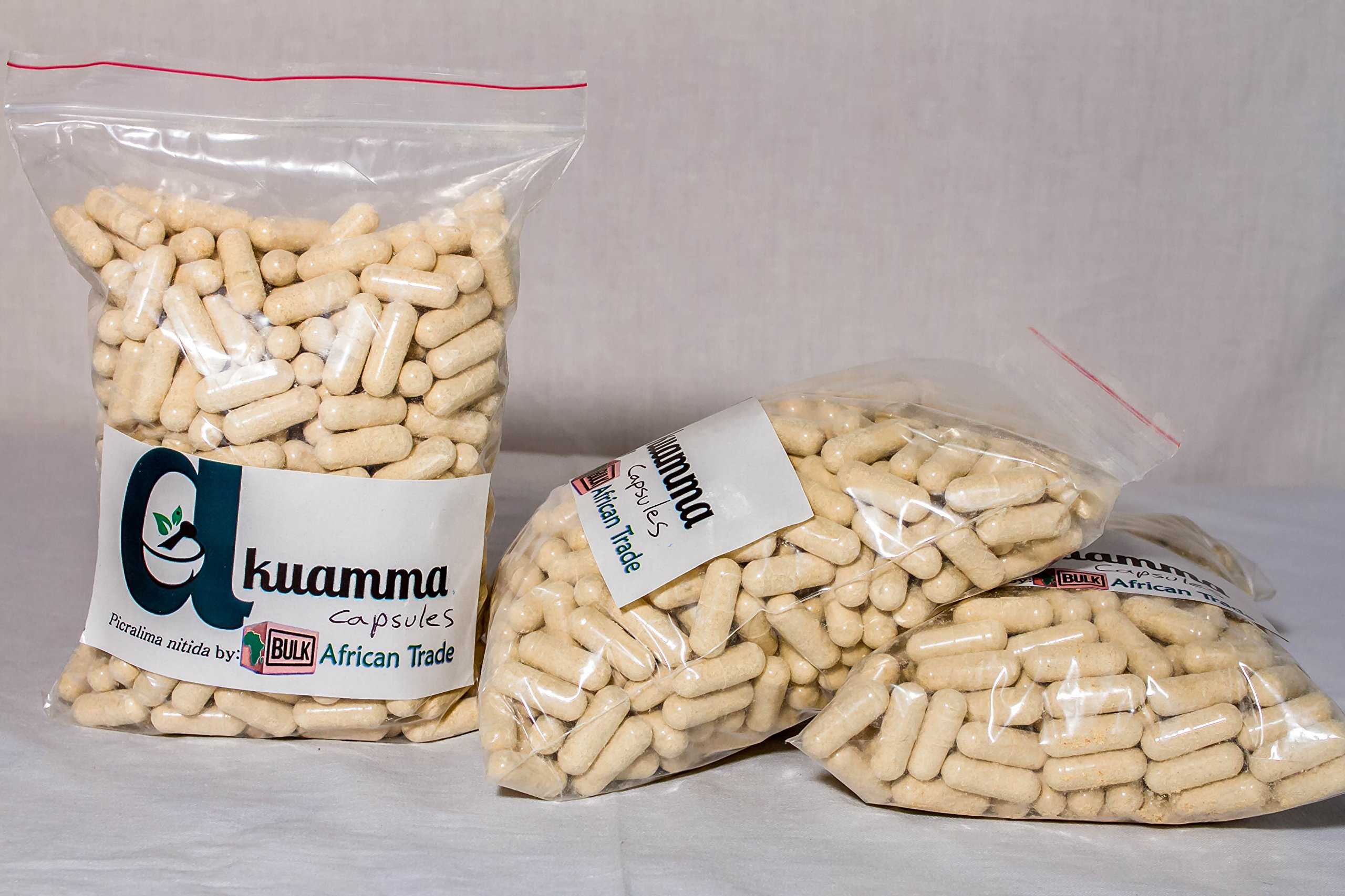 Akuamma seed powder capsules. The Original Picra Caps 1000 count