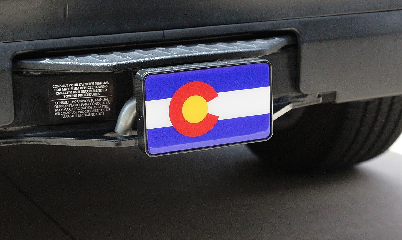 Bright Hitch Colorado Flag Hitch Cover