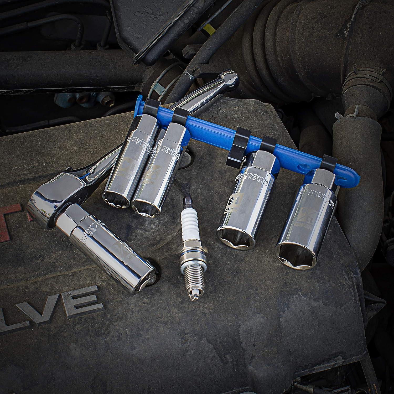 "NEIKO 02500A Spark Plug Socket Set 3//8/"" Drive Chrome Vanadium SAE And Metric Rubber Retaining Inserts 5 pieces"