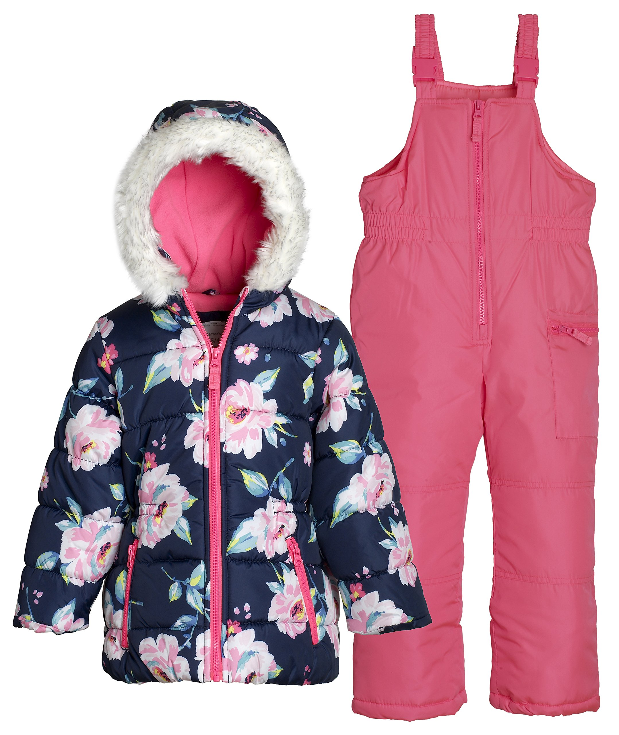 Carter's Baby Girls' 2-Piece Floral Jacket And Snow Pants Set 12 Months