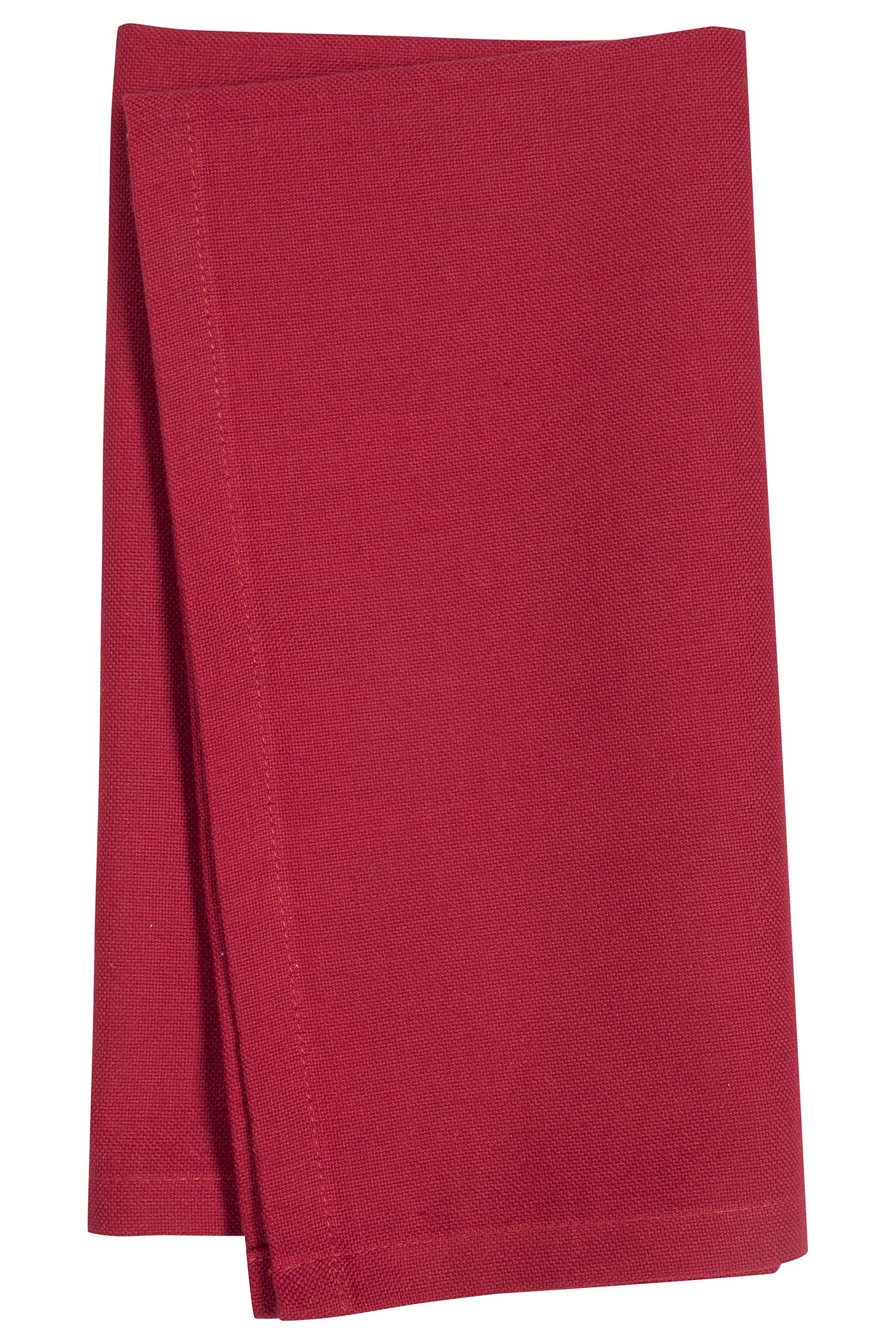 KAF Home Laguna Napkins in Red, Set of 4, 100% Cotton, Machine Washable, 20'' by 20''
