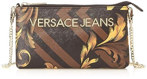 Versace Jeans - Portafogli;donna, Carteras Mujer, Multicolor (Nero+Oro)
