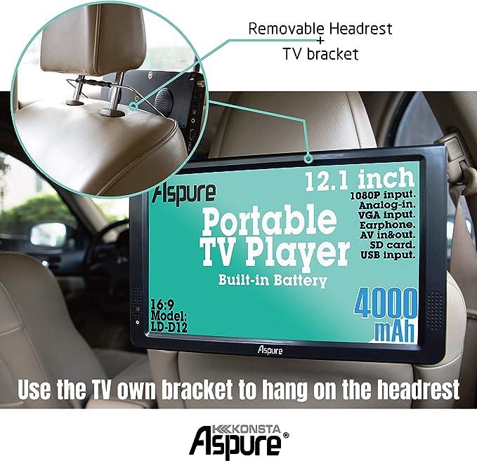 EU Plug T2 Petit /écran USB Support TV 1080p /Économie D/énergie pour Le Camping Chambre Caravane /À Lext/érieur Zerone LEADSTAR 12TV Portable TNT 12V T/él/évision HD DVB-T