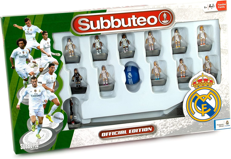 Real Madrid - Juego Subbuteo Team Box, New Edition, Color Blanco ...