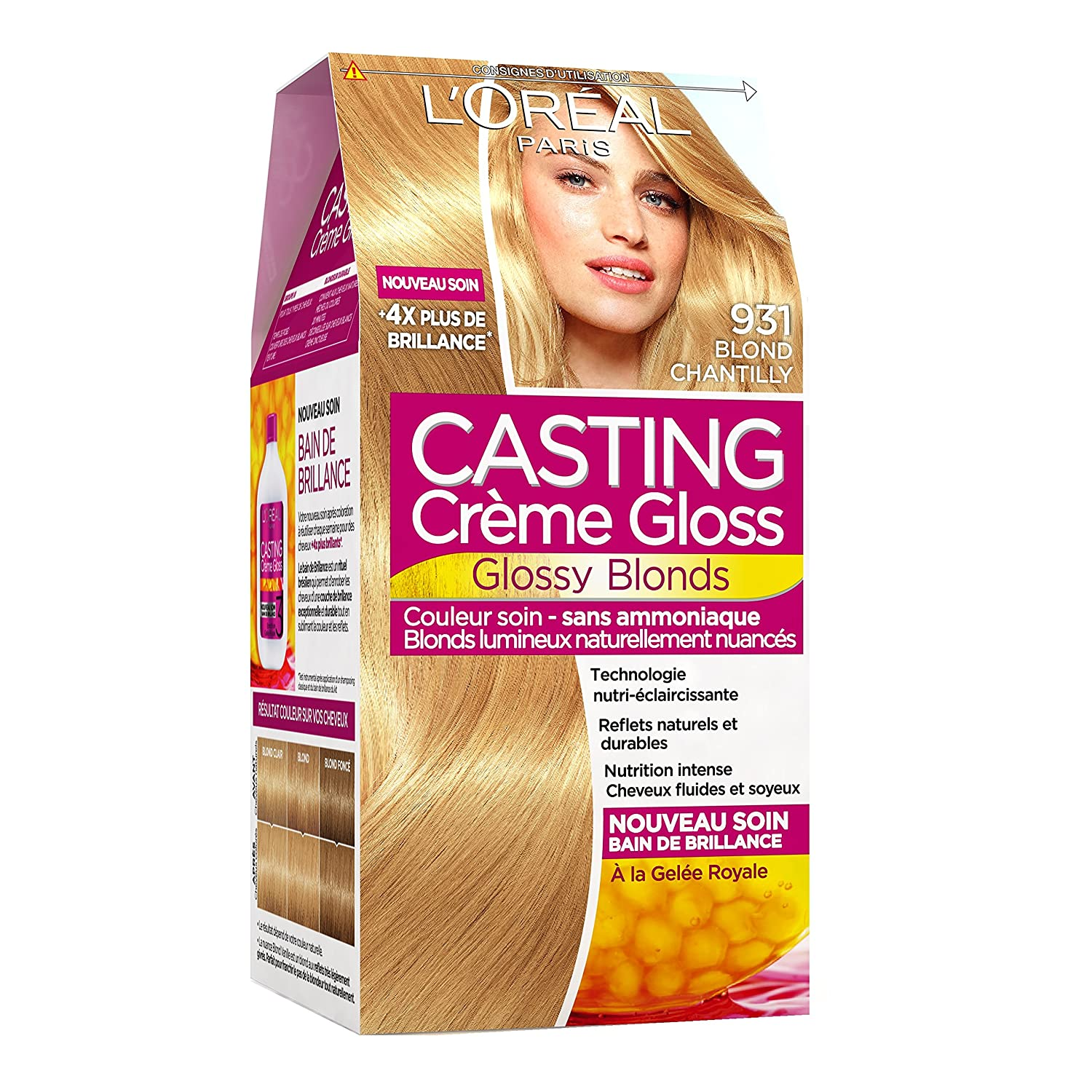 casting crme gloss ton sur ton coloration sans ammoniaque 931 blond chantilly - Quelle Coloration Sans Ammoniaque Choisir