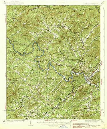 Amazon.com: North Carolina Maps - 1938 Fowler Bend, NC USGS ...