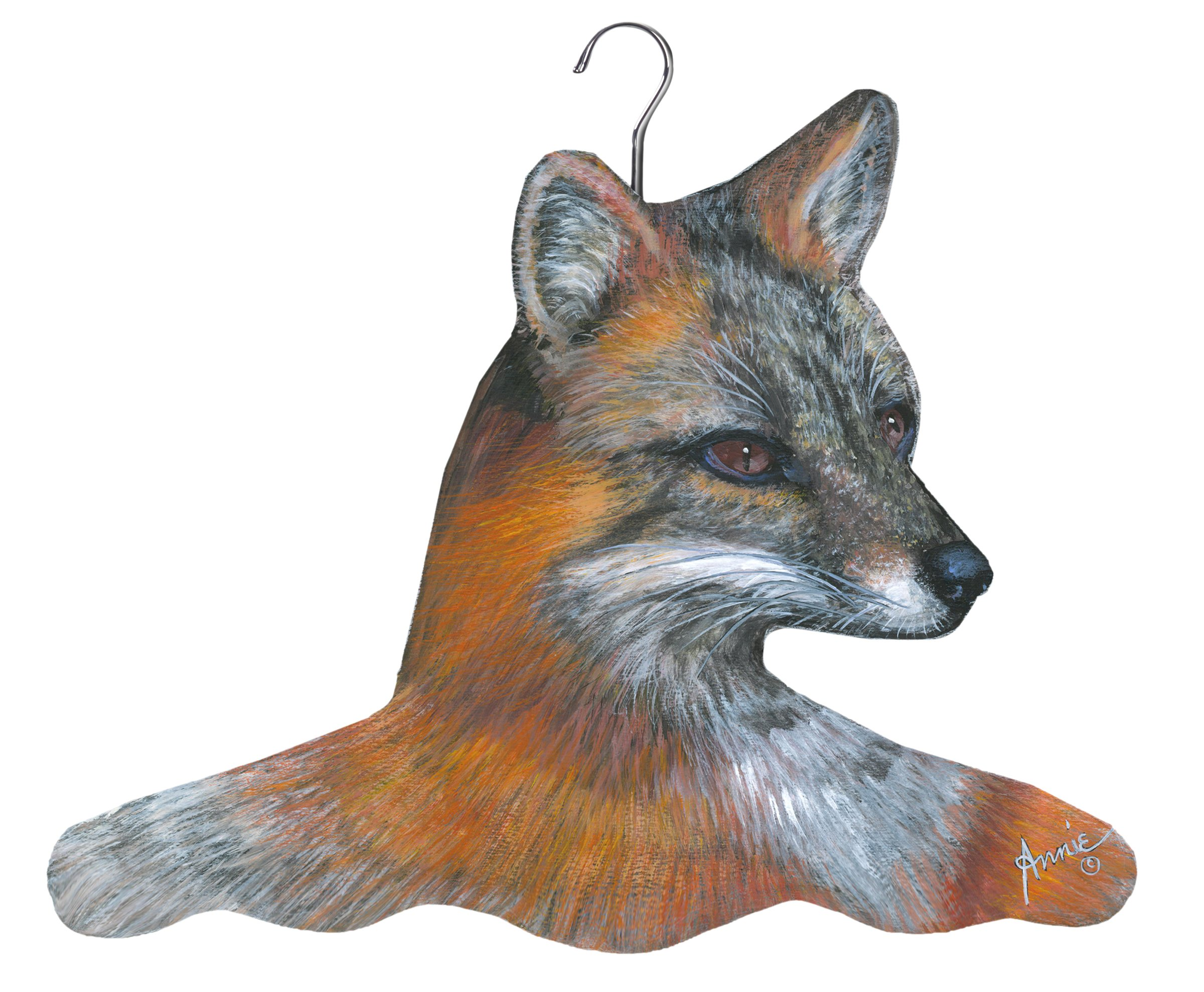 Stupell Home Décor Sporty Fox Hanger, 17 x 0.4 x 11, Proudly Made in USA