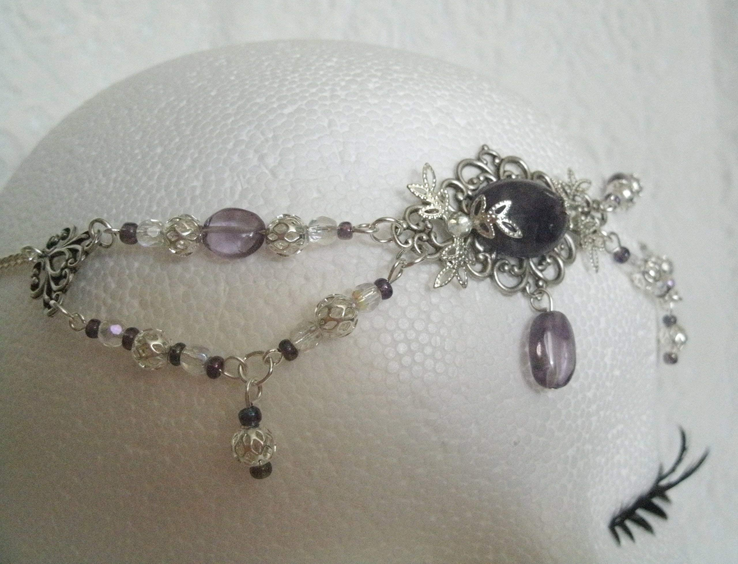 Amethyst Circlet handmade jewelry wiccan pagan wicca witch goddess headpiece renaissance medieval