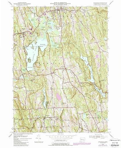 Amazon.com: Connecticut Maps | 1956 Litchfield, CT USGS Historical ...