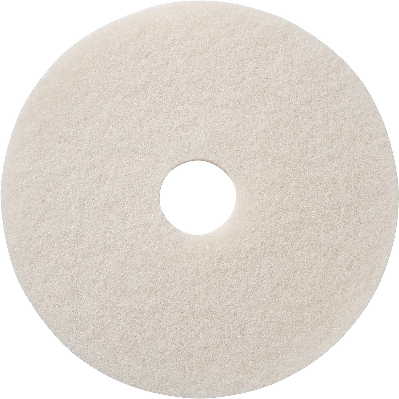 "Glit / Microtron 401220 Super Polishing Pad, 20"", White (Pack of 5)"