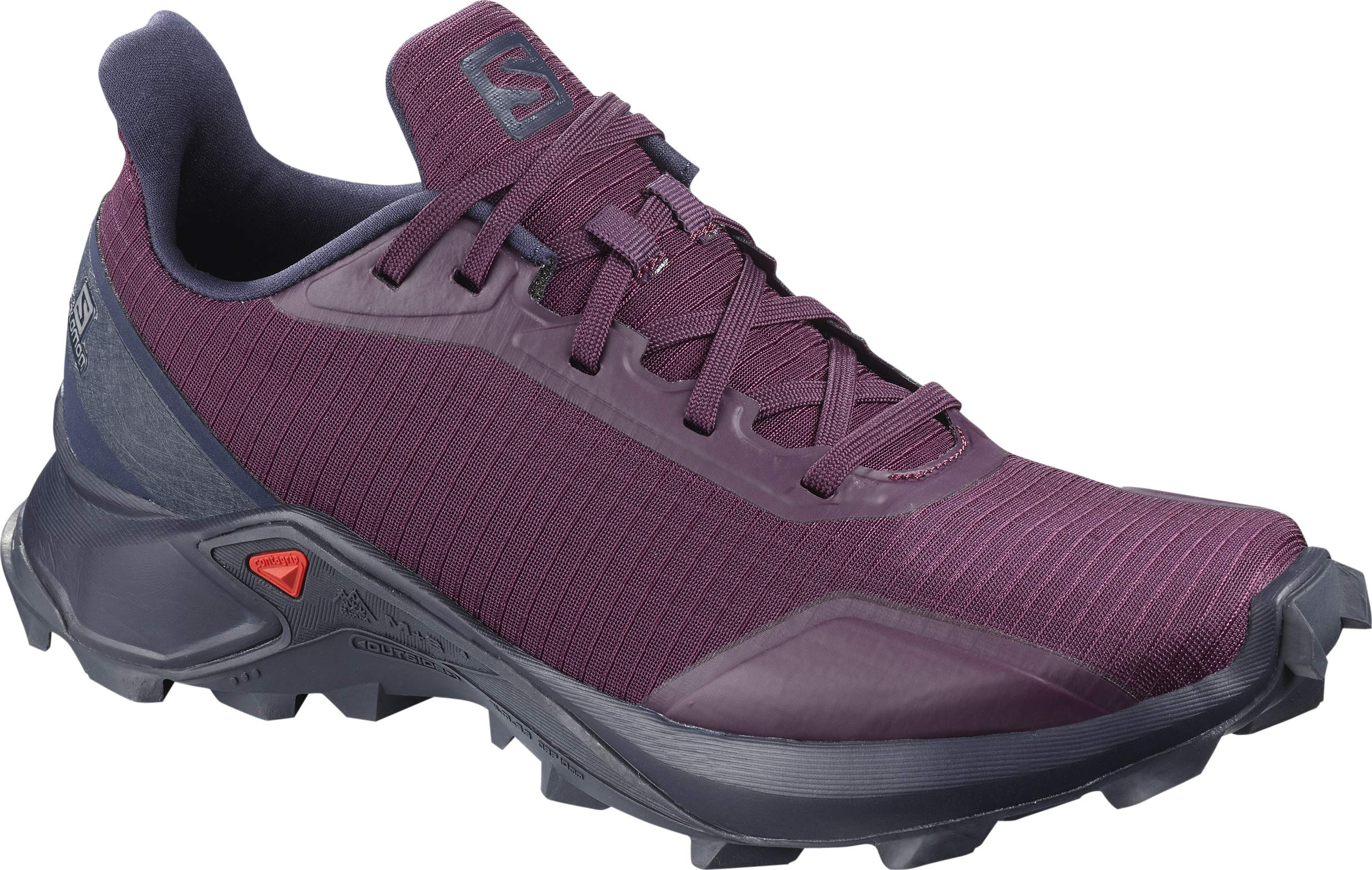 Salomon Women's Alphacross Trail Running Shoes, Potent Purple/Navy Blazer/India Ink, 6.5 by SALOMON