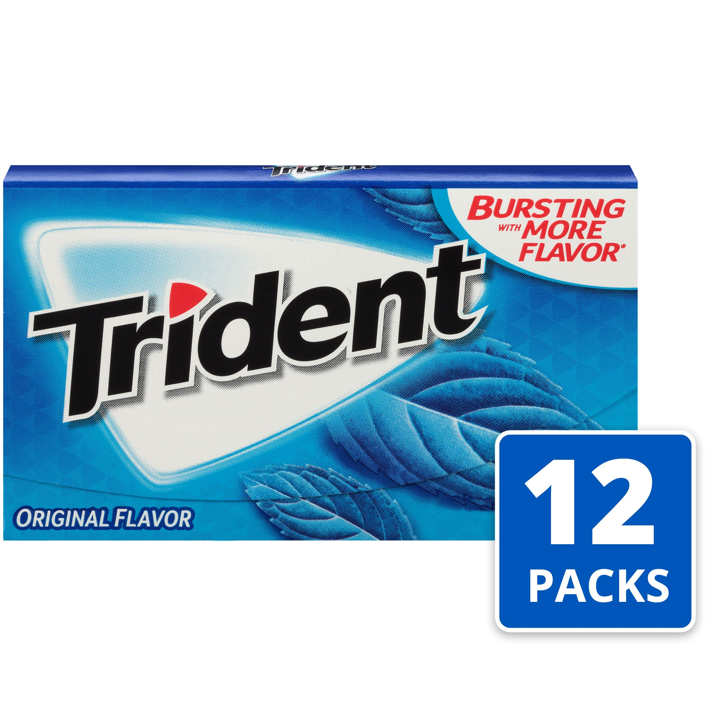 Trident Original Flavor Sugar Free Gum - with Xylitol - 12 Packs (168 Pieces Total) by Trident