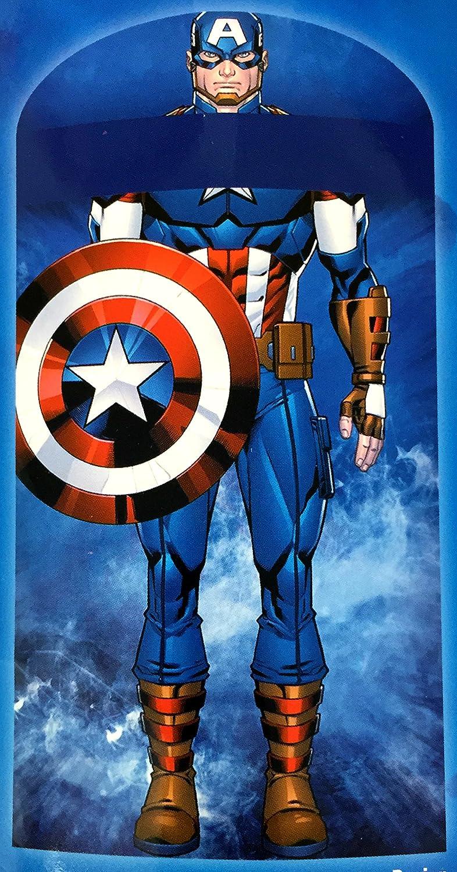 Marvel Vengadores Capitán América con capucha Saco de dormir dormir saco piso cama: Amazon.es: Hogar