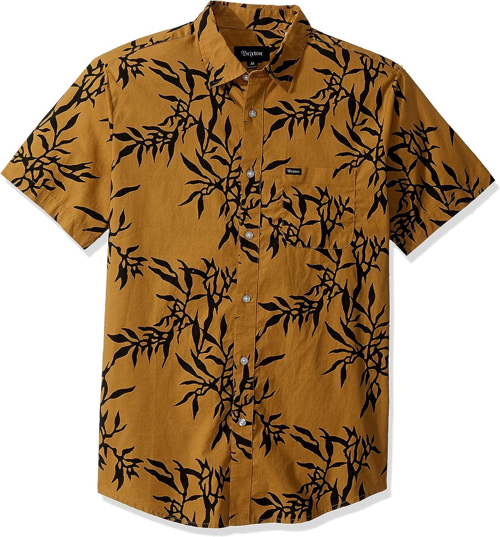 Brixton - Camiseta de manga corta para hombre con estampado de Charter - Amarillo - Medium: Amazon.es: Ropa y accesorios