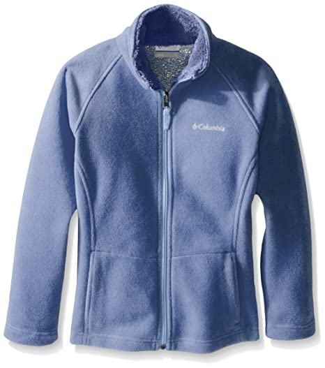 Columbia Girls Dotswarm II Fleece Full Zip Jacket, XX-Small,  Empress/Bluebell