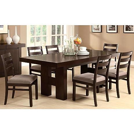 Marvelous A Line Furniture Monte Carlo Elegant Simplicity Bold Design Dinning Set  Brown 6 Piece