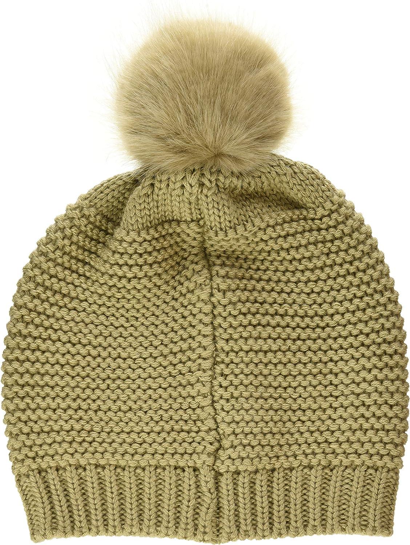 Trussardi Jeans Damen Beanie Knit Ecofur Pon Baskenm/ütze