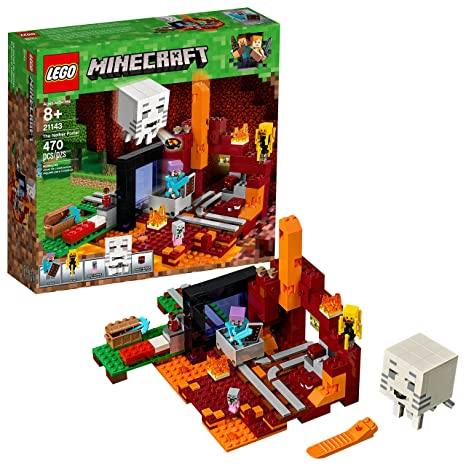 Amazon.com: LEGO Minecraft the Nether Portal 21143 Building Kit (470 ...
