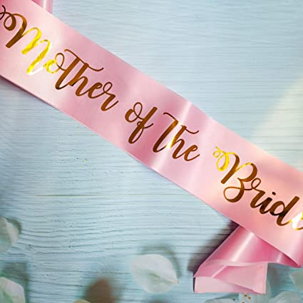 "HEN PARTY PINK SASH WITH /""MOTHER OF THE BRIDE/"" ON"