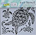 """Crafters Workshop TCW610S Template, 6"""" x 6"""", Sea Turtles, White"""