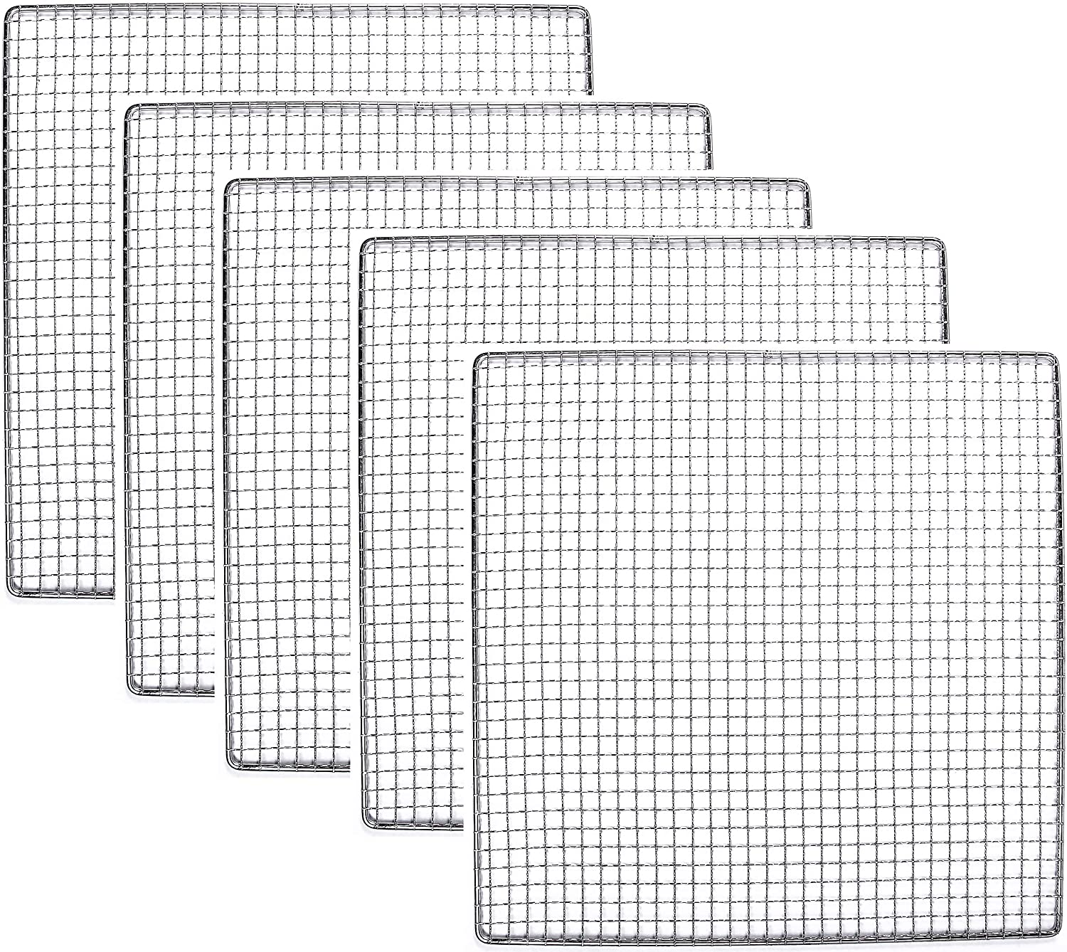 5 Stainless Steel Trays Compatible With Excalibur Dehydrator Replacement UPGRADE Food Shelf Mesh Screen by Bright Kitchen (5 Trays)