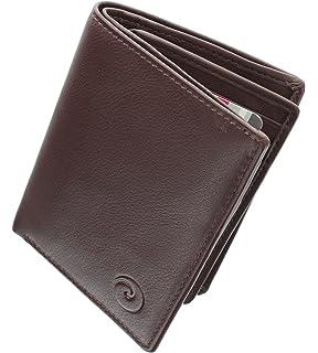 31c50fabb Mala Leather Colección Origin Cartera Compacta Bi-Fold de Cuero con  Protección RFID 172_5 Marrón