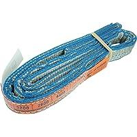 DD Sling (USA Made). 1″ x 3', Flo Guard 2 Ply, Polyester Lifting Slings, Eye & Eye, Heavy Duty, 3,200 lbs Vertical, 2,600 Choker, 6,400 Basket Load Capacity (1″ x 3')