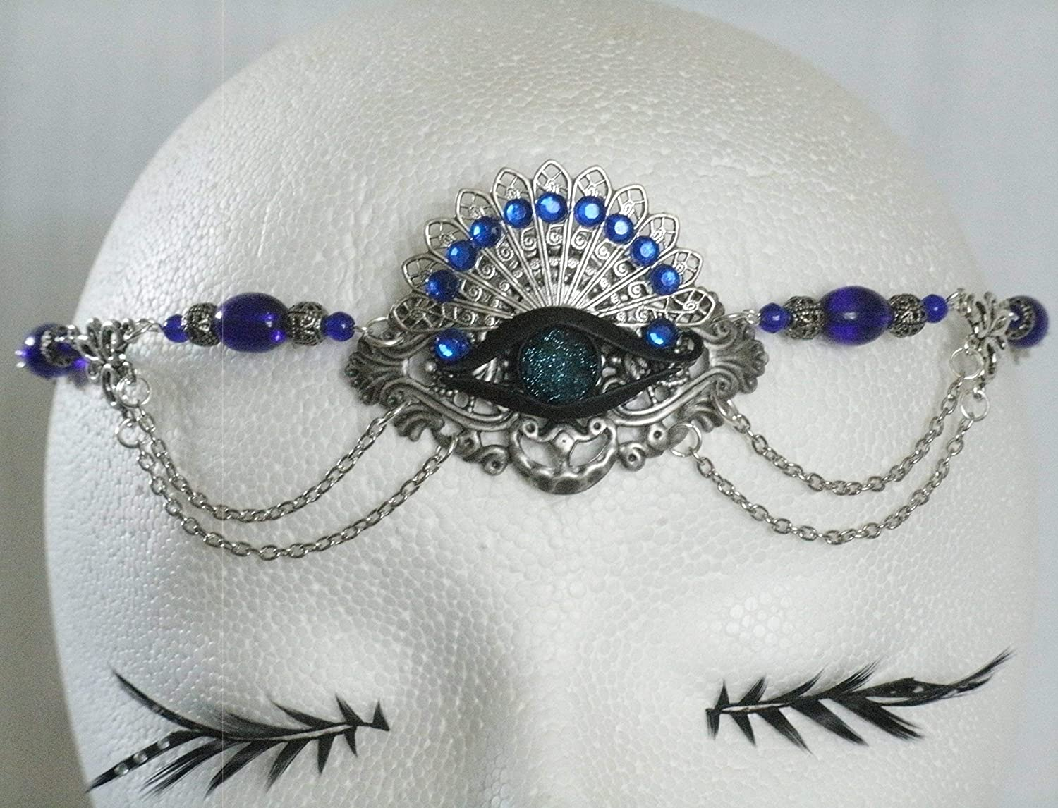 Chakra Eye Circlet handmade jewelry wiccan pagan wicca witch witchcraft metaphysical goddess headpiece