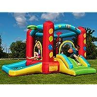Aire de jeux gonflable Balloon de BeBop pour les enfants avec toboggan et piscine à boules