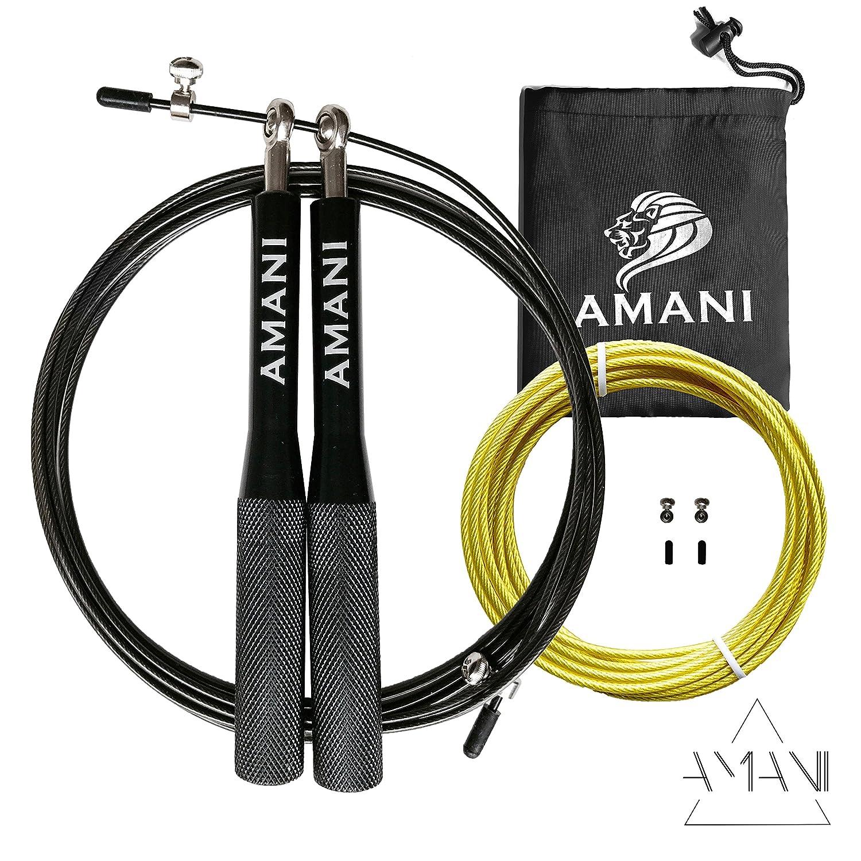 SIMBA Cuerda para Saltar para Crossfit, Boxeo, Fitness - Asas de Aluminio garantía de Vida: Amazon.es: Deportes y aire libre