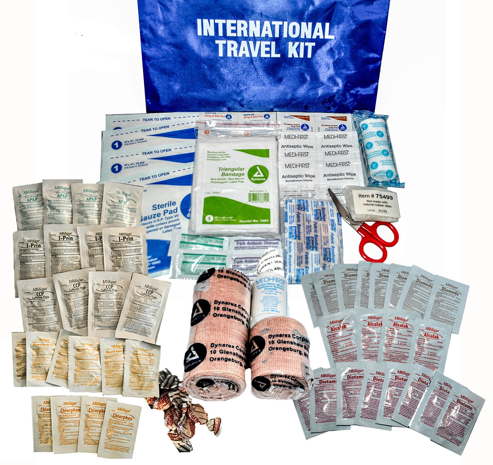 Medique Products 77501 International Traveler First Aid Kit with Polybags