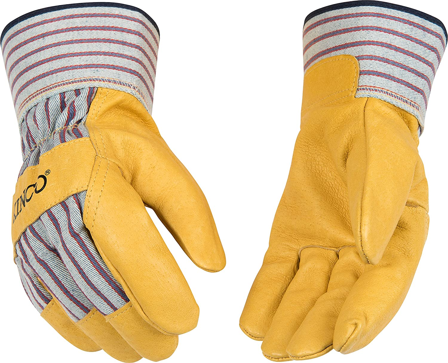 Kinco 1917 Unlined Grain Pigskin Leather Glove, Work, Large, Palomino (Pack of 6 Pairs) by KINCO INTERNATIONAL B00APL15W6