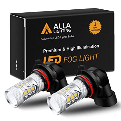 Alla Lighting Xtremely Super Bright 3000K Amber Yellow LED Fog Lights Bulbs DRL High Power 3030 SMD Chips LED Lights Replacement for Cars, Trucks (H10 9145 9140): Automotive