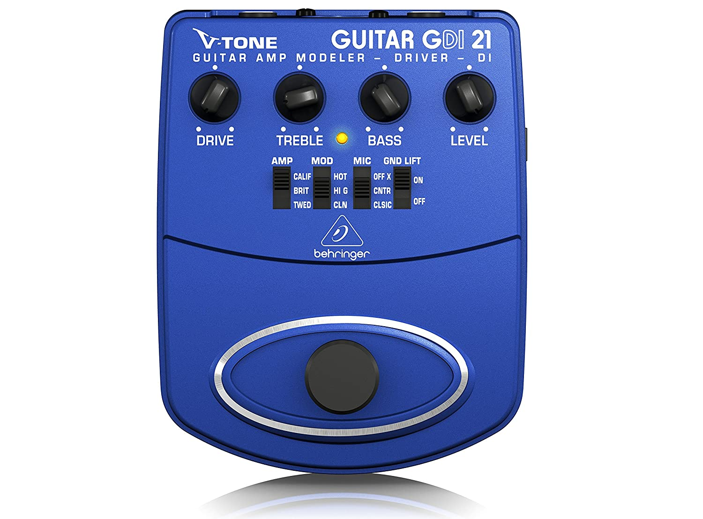 Behringer GDI21 Guitar Amp Modeler/Direct Recording Preamp/DI Box