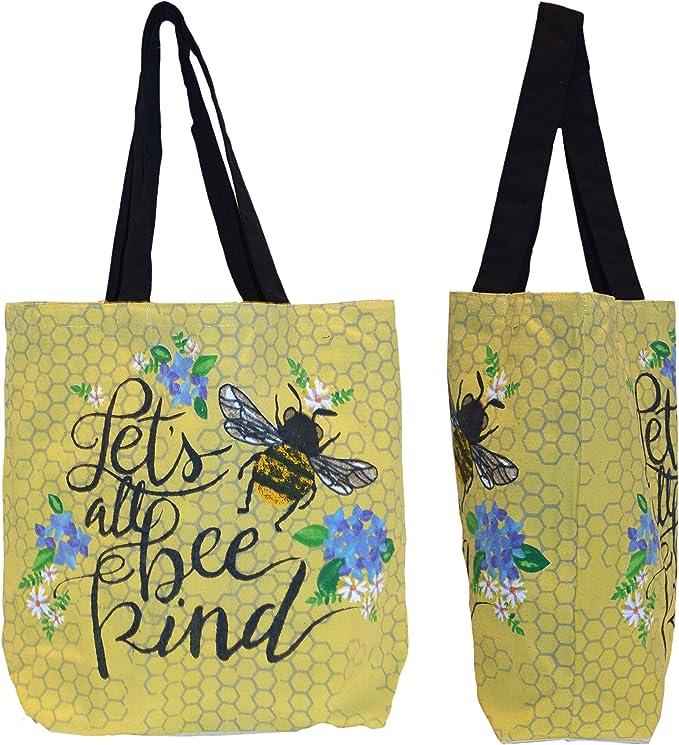 Amazon.com: Bolsa de la compra – Lets Bee Kind, ecológica ...