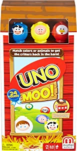 Mattel Games Uno Moo Card Game