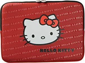 """Hello Kitty 14"""" Neoprene Sleeve Zippered Laptop Weather Resistant Case Red - 20609G-RED"""