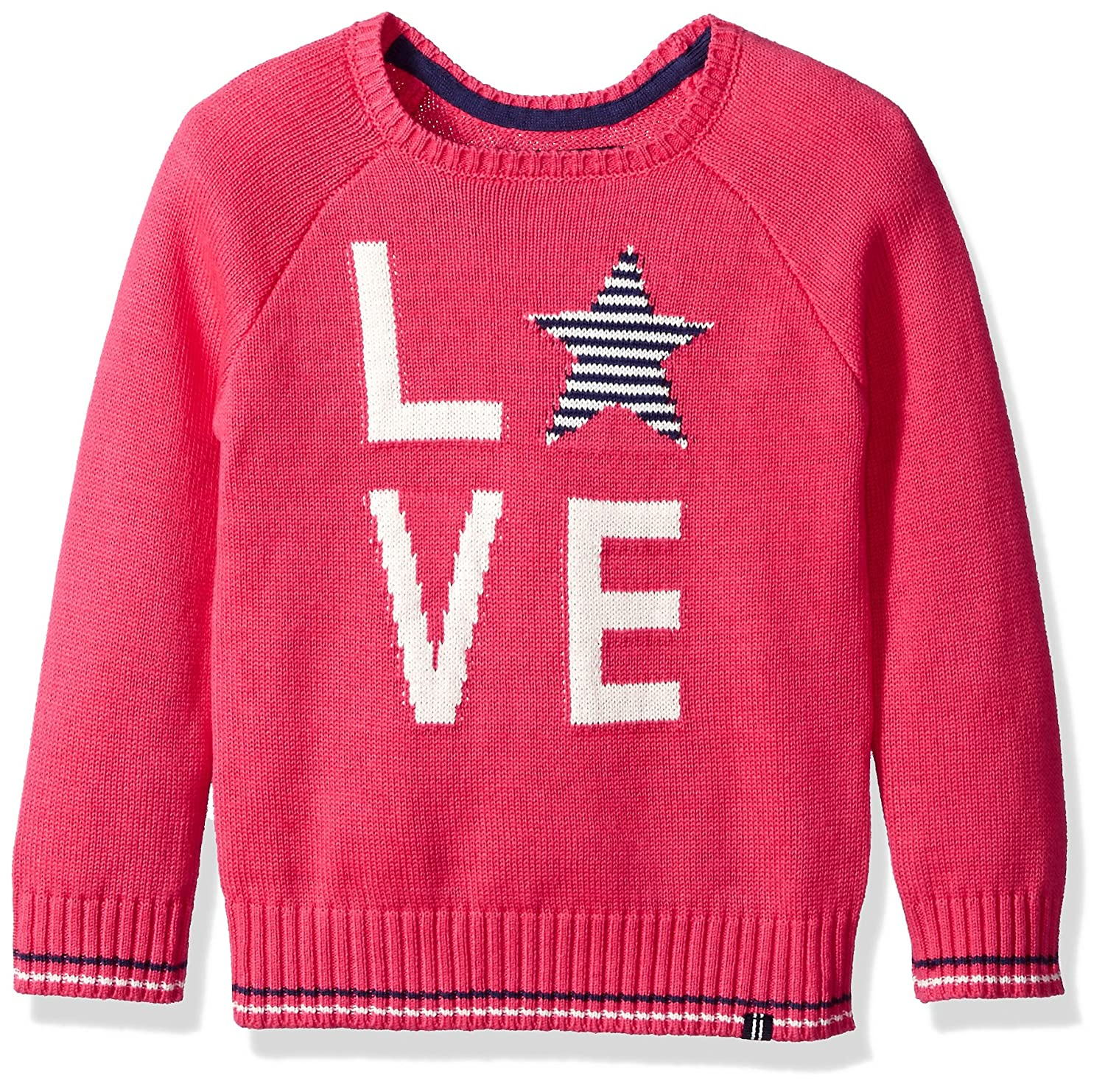 Nautica Girls Sherpa Pullover Sweater Bright Pink Love Medium (8/10) NDC0078Q