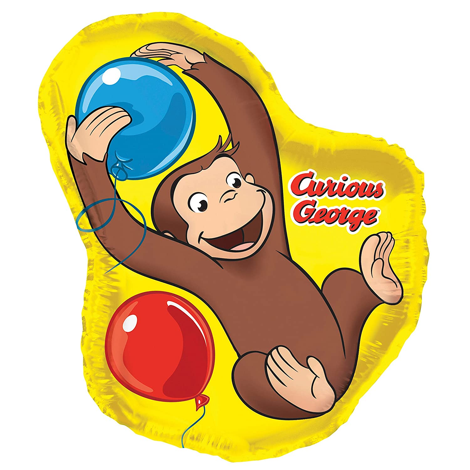 amazoncom 35 giant foil shaped curious george balloon toys games - Curious George Coloring Book In Bulk