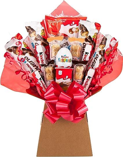 Kinder Chocolate Bouquet 20 Piezas Caja de selección de cestas de regalo de explosión de árbol