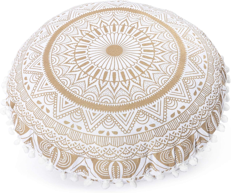 100/% Cotton Mandala Square Floor Pillow Cushion Seating Throw Cover Hippie Decor